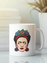 Кружка с рисунком Фрида Кало (Frida Kahlo) белая 004
