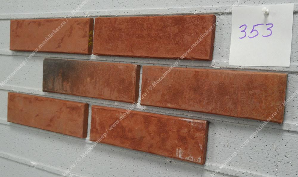 Stroeher - 353 eisenrost, Zeitlos, состаренная поверхность, ручная формовка, 400x71x14 - Клинкерная плитка для фасада и внутренней отделки
