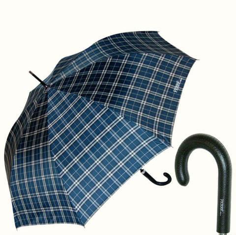 Большой тёмно-синий зонт в клетку