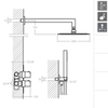 Встраиваемый термостатический смеситель для душа с душевым комплектом KUATRO K478711 на 2 выхода - фото №4