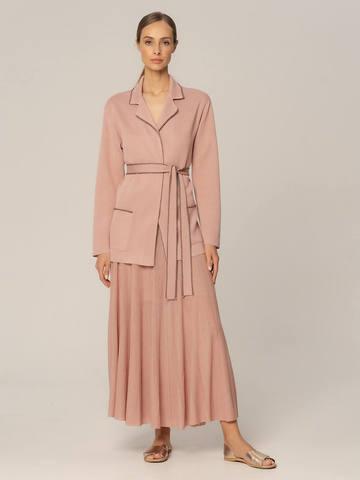 Женский жакет бежево-розового цвета из вискозы - фото 2