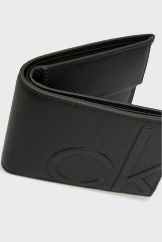 Мужской черный кожаный кошелек BIFOLD 5CC W/ COIN Calvin Klein