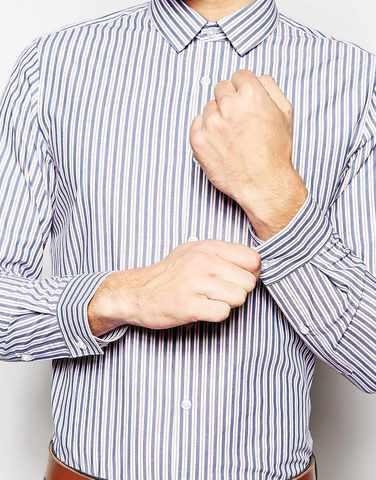 Строгая рубашка с длинными рукавами