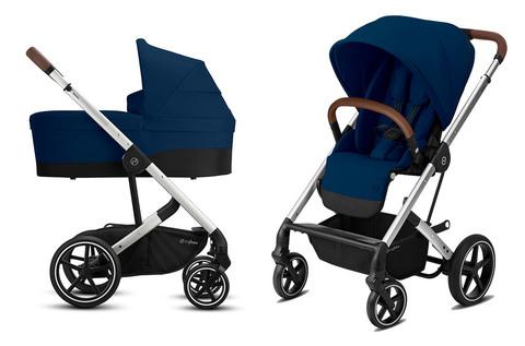 Детская коляска Cybex Balios S Lux SLV 2 в 1 Navy Blue