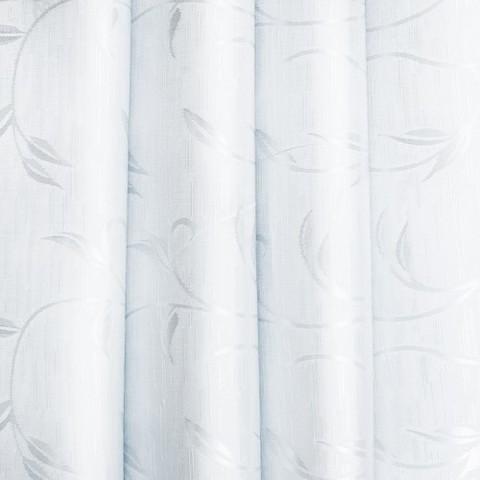 Портьерная ткань 150 см 31 цвет белый ветка