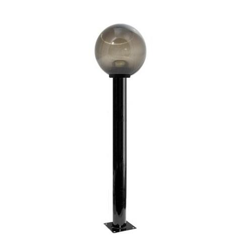 Садово-парковый светильник шар дымчатый призма D200mm с металлической опорой H1000mm