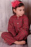 Клетчатая детская пижама BoboSette