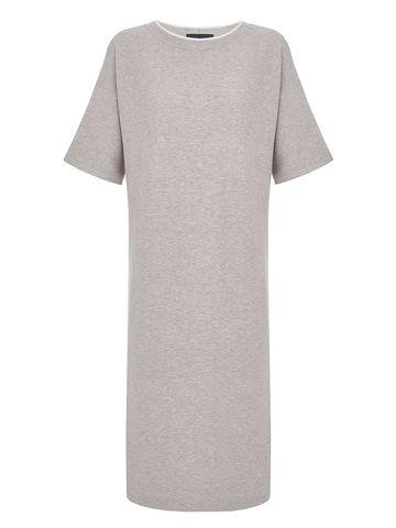 Женское платье светло-кофейного цвета из вискозы - фото 1