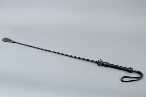 Плетёный длинный стек с наконечником-хлопушкой - 85 см.