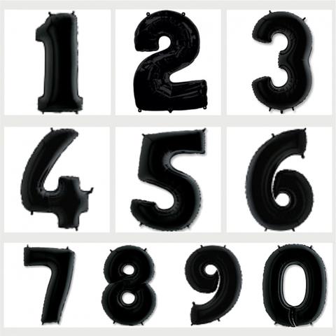 Цифра фольгированная черная 101 см.