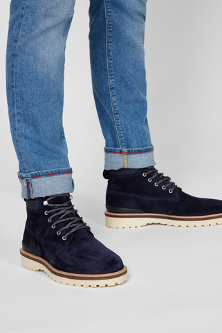 Мужские синие замшевые ботинки RODEN Gant
