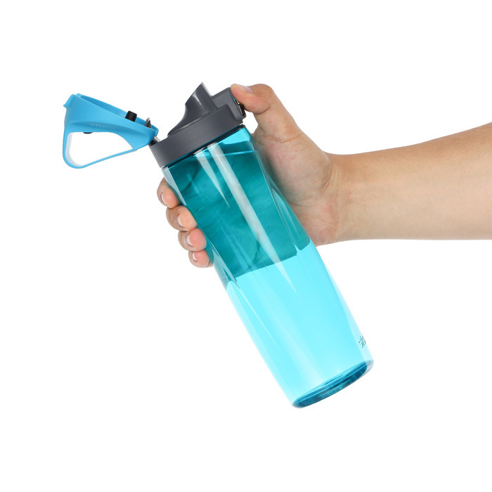 "Бутылка для воды с кнопкой Sistema ""Hydrate"", Тритан, 900 мл, цвет Голубой"