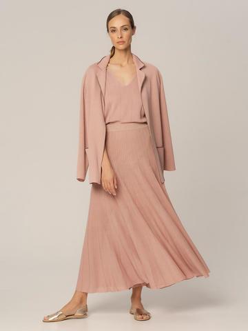 Женский жакет бежево-розового цвета из вискозы - фото 3