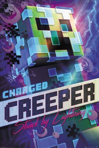 Постер Minecraft. Charged Creeper 282-FP4744
