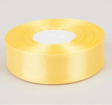 Лента атласная (размер 25 мм х 30 м) Цвет: желтая