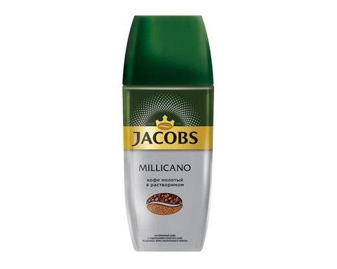 Кофе растворимый Jacobs Monarch Millicano с молотым кофе, 95 г