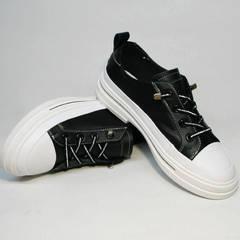 Женские туфли кроссовки El Passo sy9002-2 Sport Black-White.