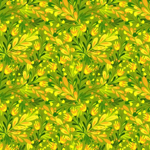 Цветочный луг. Летние цветы на зеленом фоне