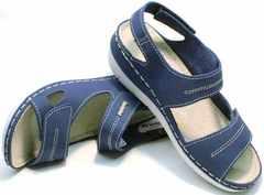 Женские кожаные сандалии в спортивном стиле Inblu CB-1U Blue.