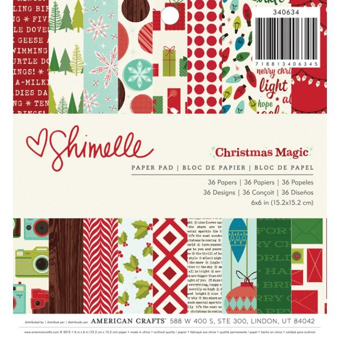 Набор бумаги 15*15 см Christmas Magic