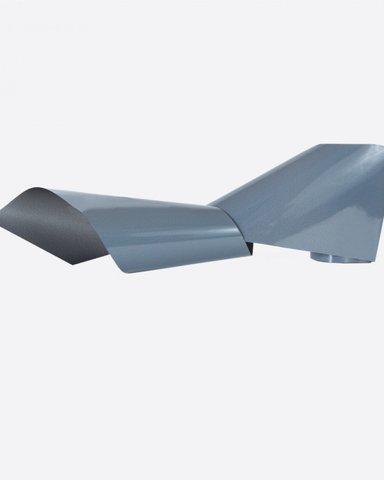 Фольга матовая полупрозрачный серый 4см х 1м 238