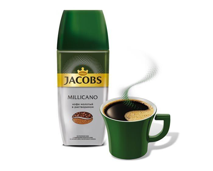 Jacobs Millicano с молотым кофе, 95 г