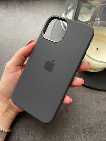 Чехол Iphone 12 pro Max Silicone case original quality /black/