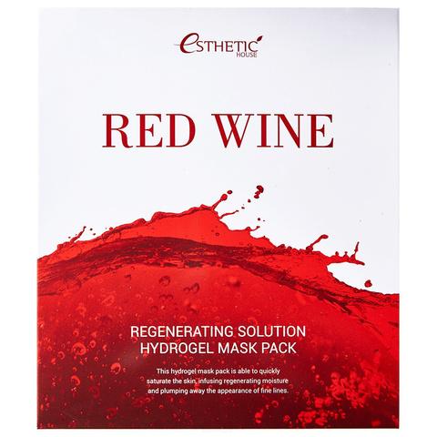Esthetic House Red Wine Regenerating Solution Hydrogel Mask Pack гидрогелевая маска с красным вином