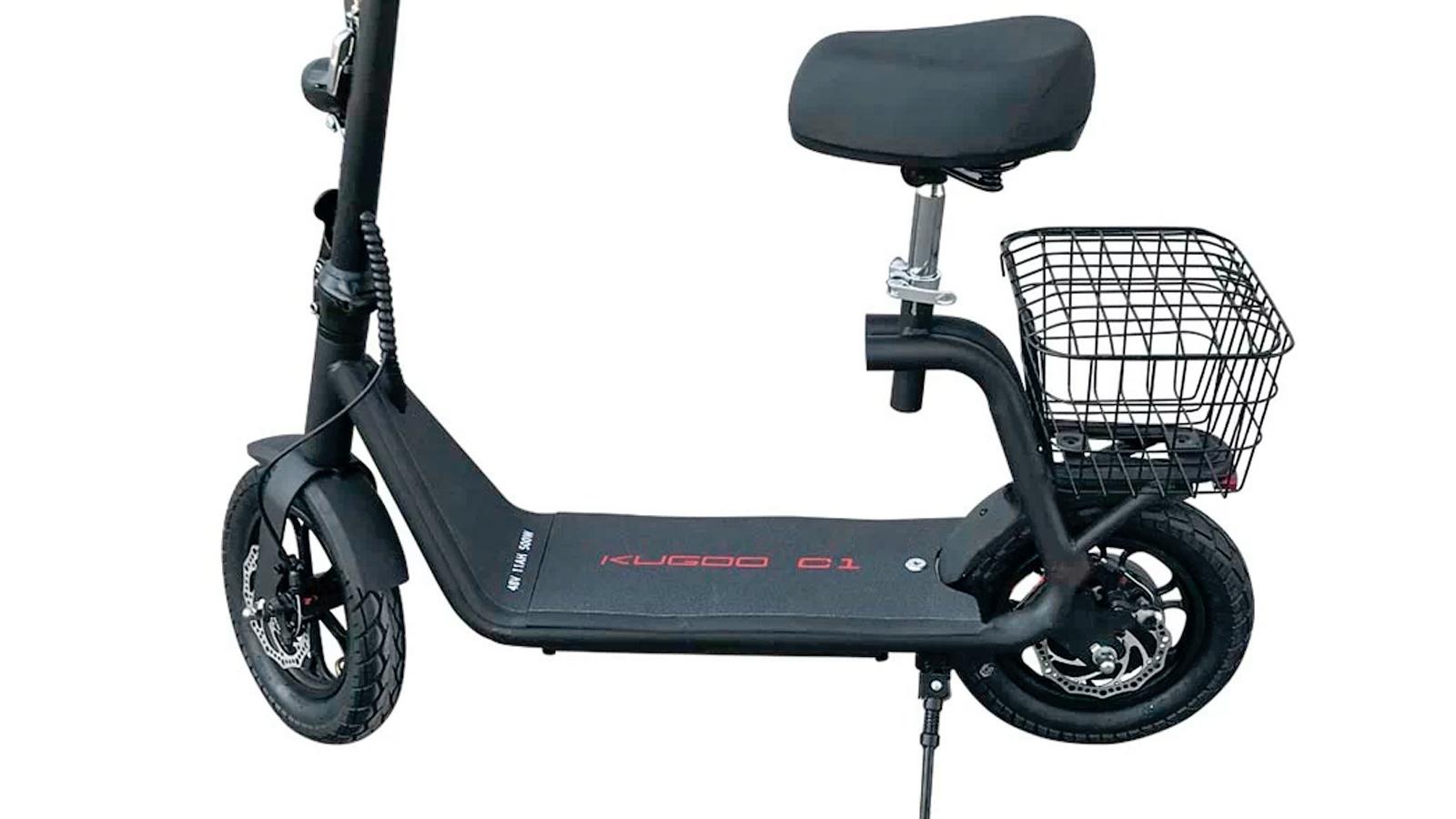 поворот переднего колеса электросамоката