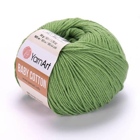 Пряжа Baby Cotton (Бэби Котон) Зеленый. Артикул: 440