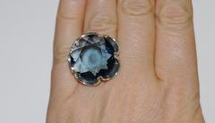 Мак (кольцо + серьги из серебра)