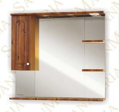 Зеркало-шкаф SanMaria Венге-90 светлый орех левый