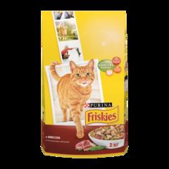 Friskies Сухой корм для взрослых кошек с Мясом и полезными овощами