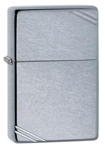Зажигалка Zippo Replica с покрытием Street Chrome, латунь/сталь, серебристая, матовая, 36x12x56 мм123