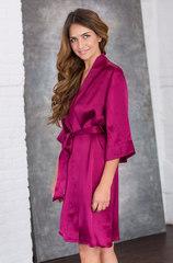 Шелковый халат Миа-Миа вишневый