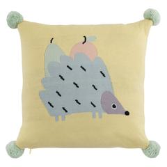 Подушка декоративная с помпонами 35х35 Tkano Tiny world Ежик Ugo TK20-KIDS-CU0003