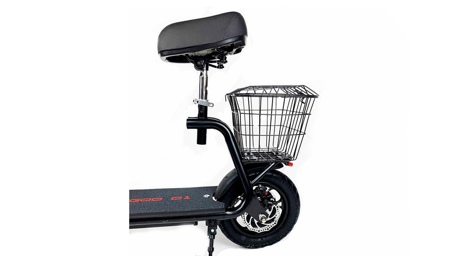 заднее колесо, корзина и сидение электросамоката Kugoo C1