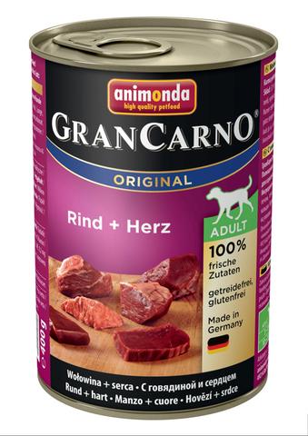 Консервы Animonda Gran Carno Original Adult с говядиной и сердцем для взрослых собак