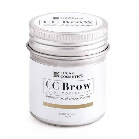 Хна для бровей CC Brow (light brown) в баночке (светло-коричневый), 10 гр
