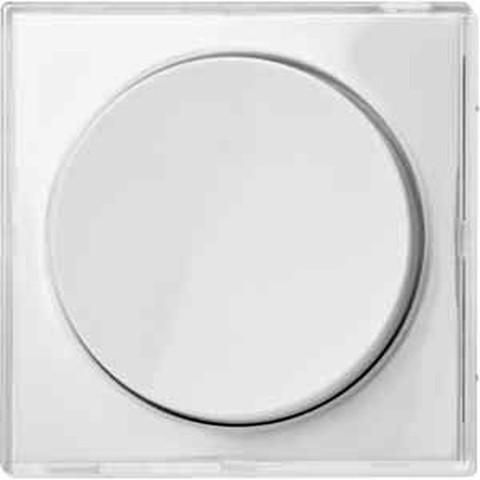 Светорегулятор/Диммер поворотно-нажимной 40-600 Вт. для ламп накаливания и галог. Цвет Прозрачный. Merten. MTN5133-0000+MTN5250-3500