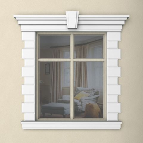 Наличник из пенопласта на окно