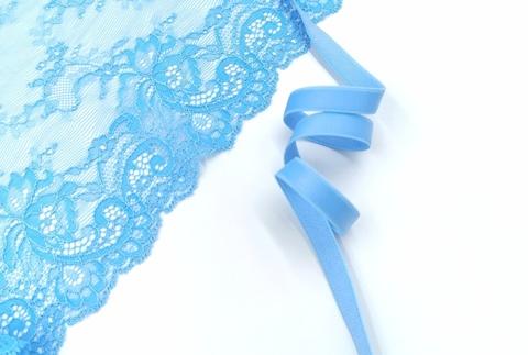 Бретелечная резинка, 10 мм, колокольчик (ярко-голубой), (Арт: BR640/10-9826), м