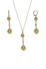 Комплект Primavera Crystal Gold  (серьги, подвеска)