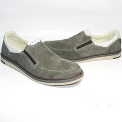 Модные мужские летние туфли IKOC 3394-3 Gray.