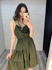 темно-зеленый сарафан nadya