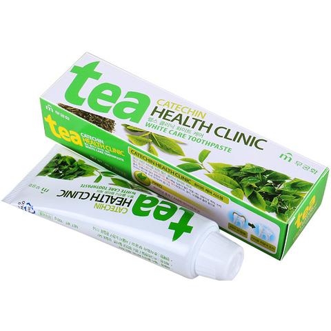 Зубная паста отбеливающая с экстрактом зеленого чая Mukunghwa Tea Catechin Health Clinic 100 гр