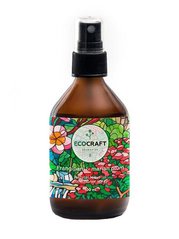 ECOCRAFT Несмываемый спрей-кондиционер термозащитный и антистатический для волос Frangipani and Marian plum Франжипани и марианская слива (100 мл)