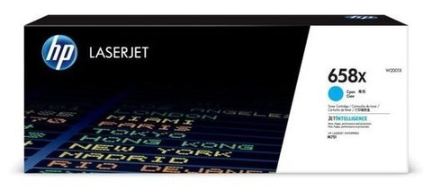 Оригинальный картридж HP W2001X 658X голубой