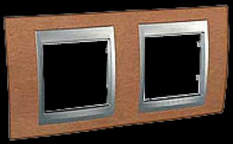 Рамка на 2 поста. Цвет Вишня. Schneider electric Unica Top. MGU66.004.0M2