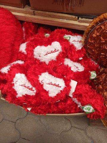 Сердечко красное с белым